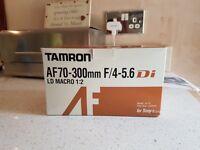 Tamron AF70-300mm F/4-5.6 LD Macro 1:2 camera lense