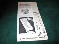 20 knitmaster Handy punch patterns for 24 stitch punch cards knitting machines £5