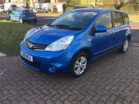 3MTHS WRRNTY, 12 MTHS MOT, NISSAN NOTE ACENTA, 1.4, HPI CLEAR - BLUE, MANUAL, 2010, LOW INSURANCE