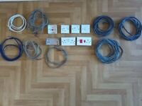 JOBLOT ELECTRICAL SOCKETS CABLE WIRE