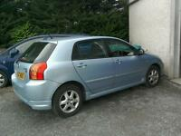 06 Toyota Corolla 1.6 Auto 5 door 47000 mls blue metallic