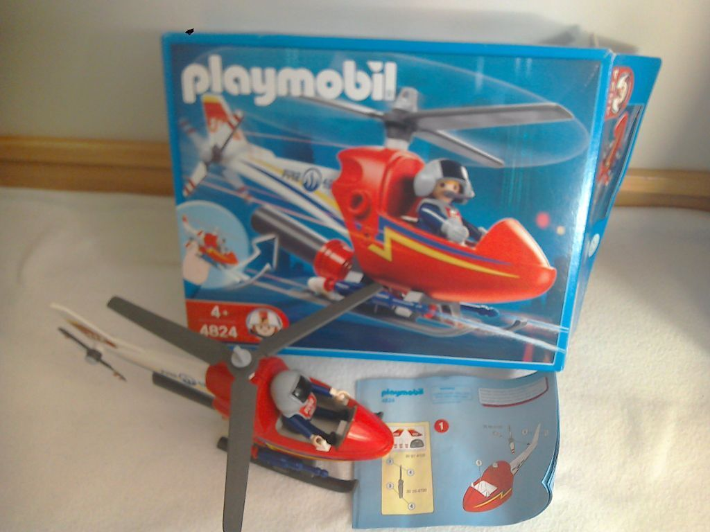 Playmobil playmobil fire helicopter 4824 will post for Playmobil post
