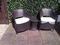 Rattan style garden furniture