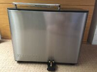 Kenwood Brushed Stainless digital Breadmaker hardly used