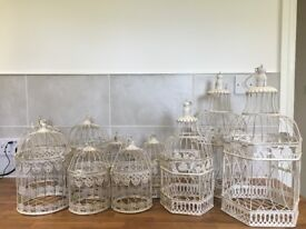 10 Wedding Centre Pieces – Bird Cages Shabby Chic Only £75