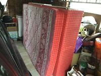 Double divan bed with four drawers in base red colour