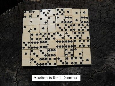 Old Rare Vintage Antique Civil War Relic Domino Game Piece Extremely Rare  - Civilizations Game