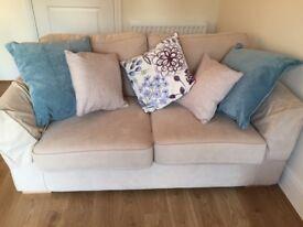 3 & 2 seater cream DFS sofas like new