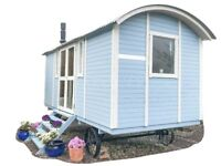 Shepherd's Hut - 4 season, electric shower, toilet & stove, ready to use!