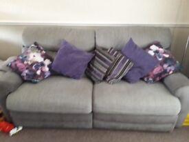 Grey recliner sofa