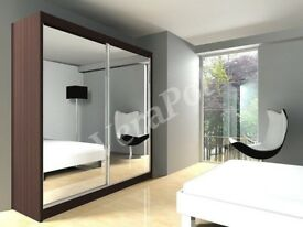 same day express delivery - top quality full mirrored berlin 2 door sliding wardrobe