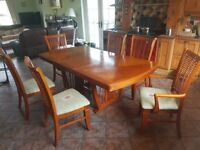 Extending Dinning Room Table and Chairs.