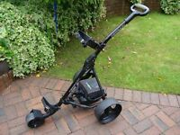 HillBilly electric golf club trolley with battery and charger