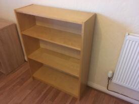Light oak / low bookcase / shelf