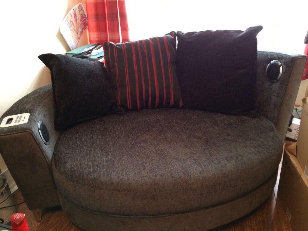 Snuggle Sofa Cuddle Chair Leather Fabric Swivel Chairs