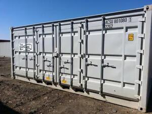 20 Shipping Container with 2 man doors in the side - The Container Guy