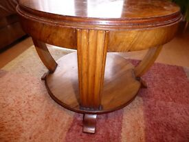 Retro solid wood small coffee table walnut veneer in Ratby, Leicester LE6