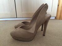 Nude sling back heels (Next) - size 5.5