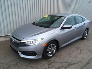 2017 Honda Civic LX AWESOME LX EDITION WITH FACTORY WARRANTY...