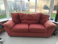 3 seater sofa & one chair -Free to Collector