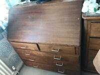 Wooden desk drawer dresser
