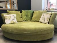Cuddler Lime Green Sofa