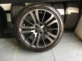 ALLOYS X 4 OF GENUINE 20 INCH RANGEROVER SPORT HSE FULLY POWDERCOATED IN A STUNNING ANTHRACITE NICE