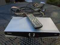 FREEVIEW BOX - GOODMANS DV3 WITH LEADS AND REMOTE CONTROL
