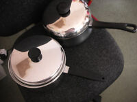 Stainless steel pans with lids