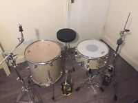 Mapex Pro M Series Drumkit w/ Cases and new Remo skins