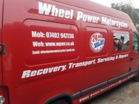 24 hr motorcycle recovery and transport services