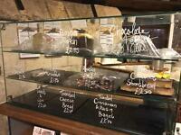 Shop glass display