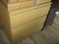MODERN WOOD STYLE LARGE CHEST OF DRAWERS ( 2 AVAILABLE )