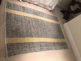 black white and yellow carpet- brand new