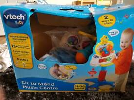 V Tech baby sit to stand music centre