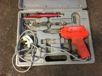 Soldering iron gun kit with box