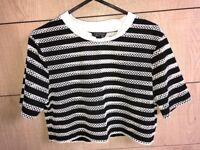 TOPSHOP cropped mesh tshirt