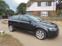 2004 AUDI A3 2.0 FSI 3DOOR IN STUNNING BLACK WITH ONLY 93000 MILES AND SERVICE HISTORY