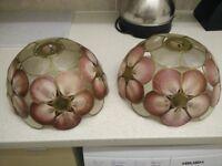 Lamp shades made of shells - vintage