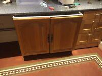 Stand alone wooden kitchen cabinet