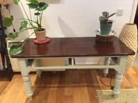 REDUCED PRICE Shabby chic vintage retro farmhouse dining kitchen table - duck egg Islington