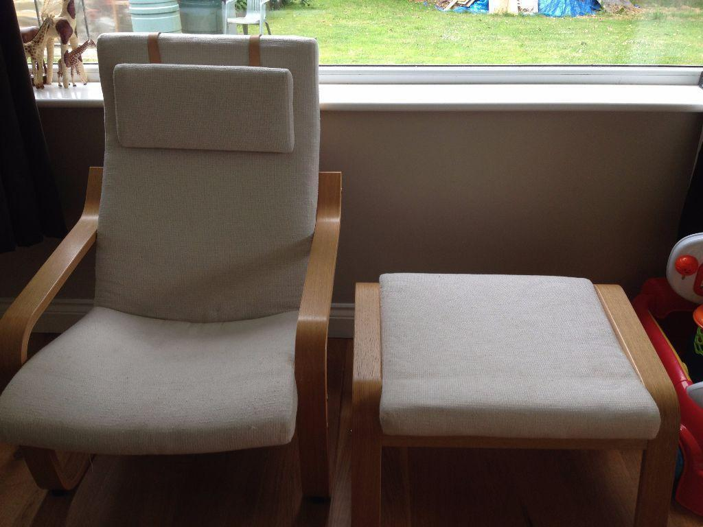 Chair Amp Footstool Ikea Poang Nursing Chair In
