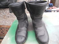 Motorcycles short boots J&S in Black Size 46 ( Eu ) , 12 UK fair condition