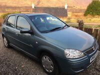 Vauxhall Corsa Design.5 door hatchback Deisel Low mileage for year. £30 road tax