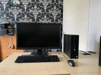 """Hp Prodesk 400 G3 SFF intel i5 6500 8gb ram 500gb hdd 24"""" iiyama monitor full system"""