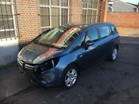 2014 64 VAUXHALL ZAFIRA 1.8 TOURER EXCLUSIV BLUE DAMAGED SALVAGE REPAIRABLE