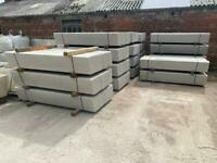 Reinforced 6x1 Smooth Concrete Garden Base Panel/ Gravel Boards ~ New