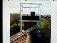 Zigzag roof/chimney scaffold used
