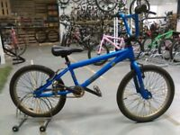 SCHWINN BMX BIKE 20 INCH WHEELS BLUE/GOLD GOOD CONDITION CHRISTMAS?
