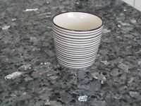 Black and White Stripe Small Mug / Cup - IB Laursen Casablanca Danish Design*NEW AND LABELLED*